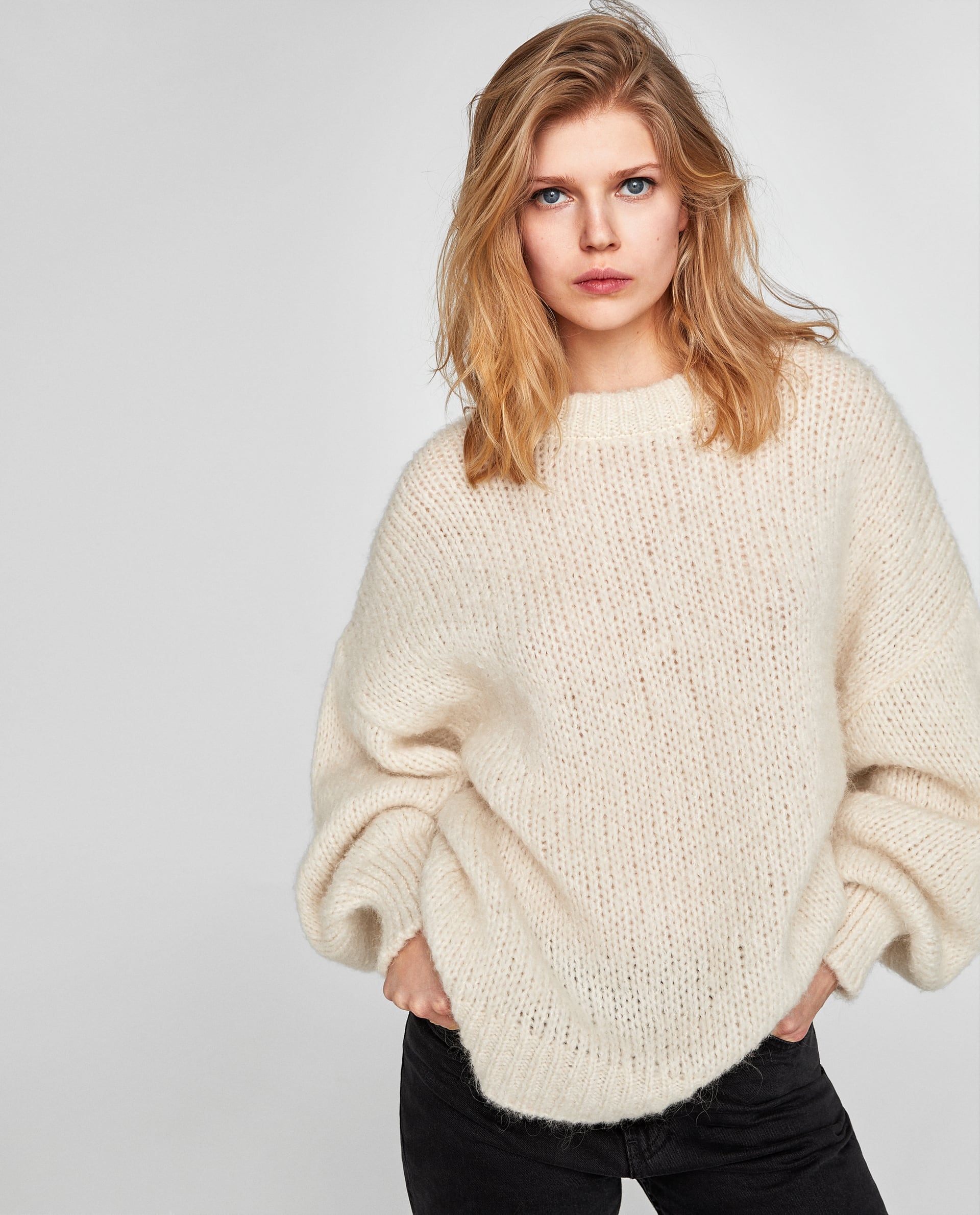 ZARA Sweater with puff sleeves $59.95