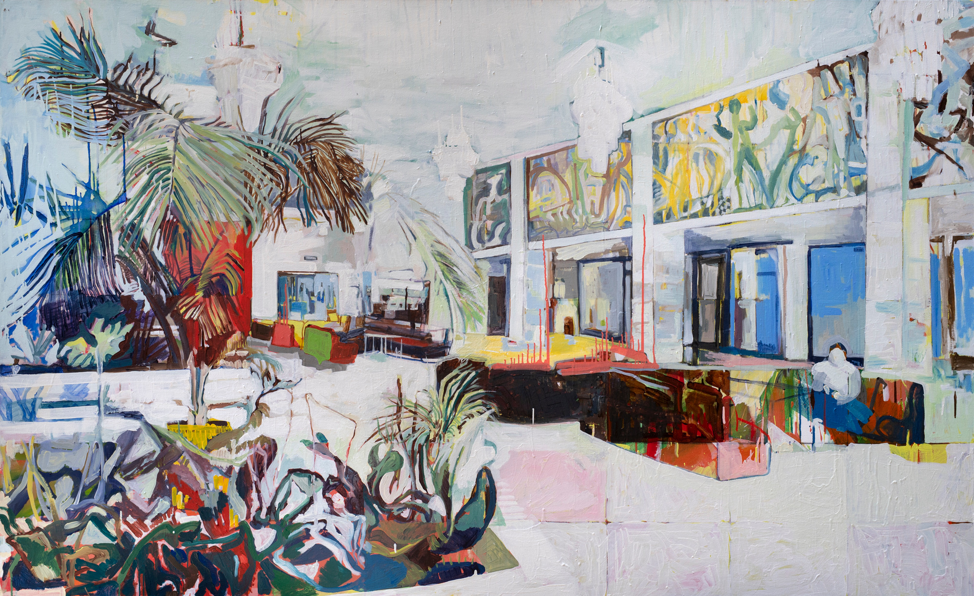 Pictured work: Foyer, oil on canvas, 120 x 190 cm