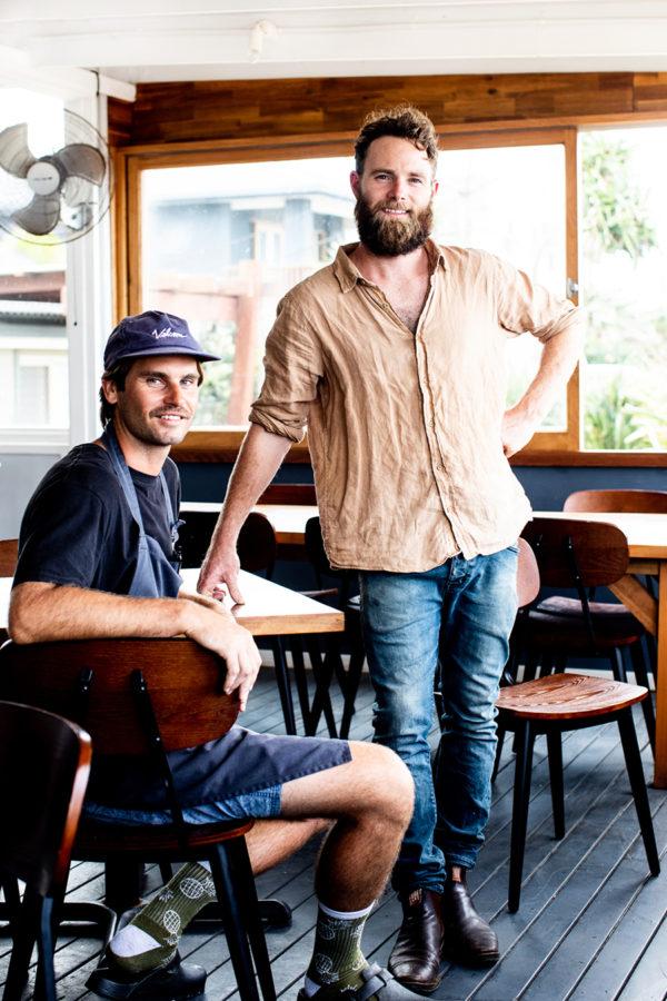 Head Chef Dennis Baker & Co-Owner Andrew Love, Shelter Lennon. Photo by Kara Rosenlund