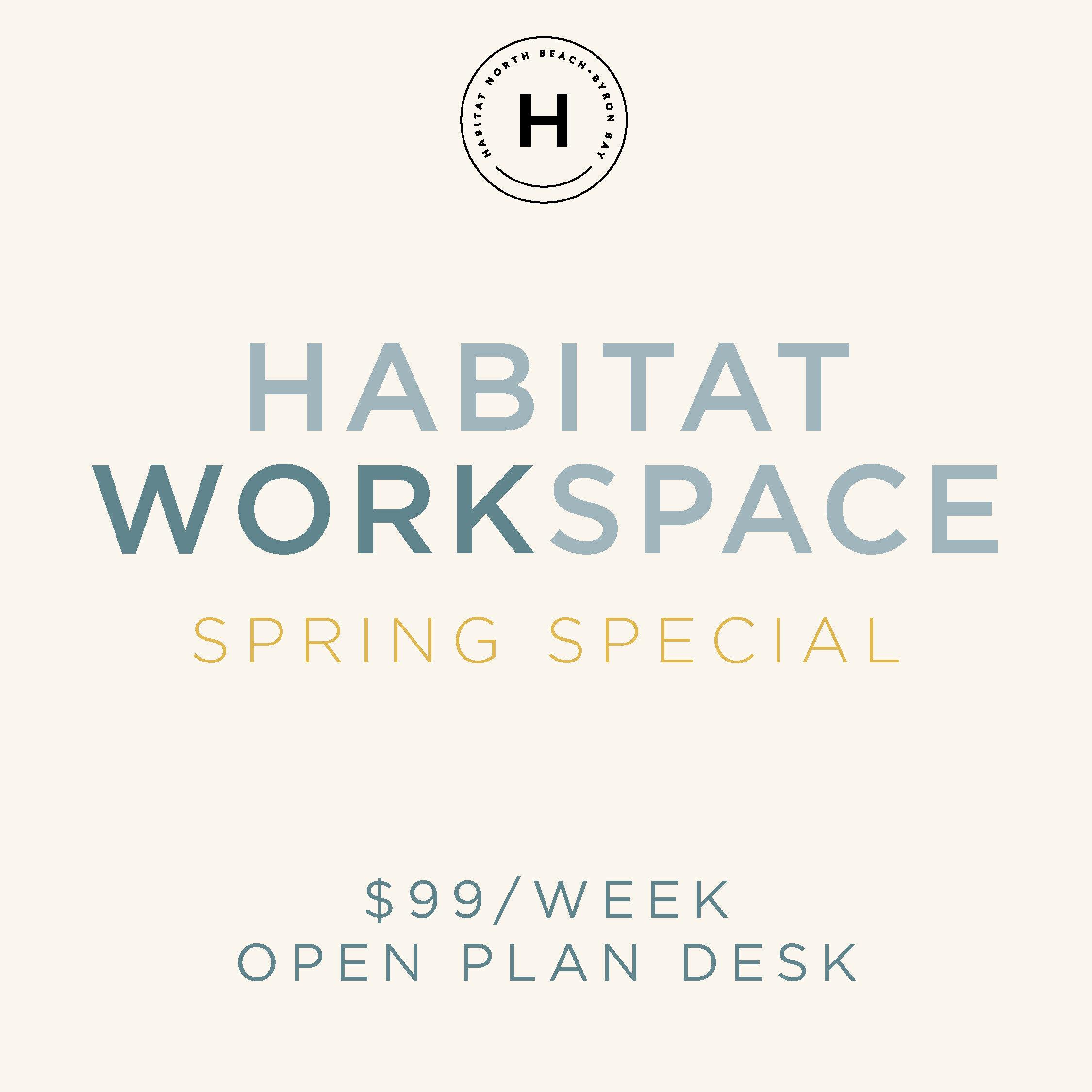 spring special habitat workspace