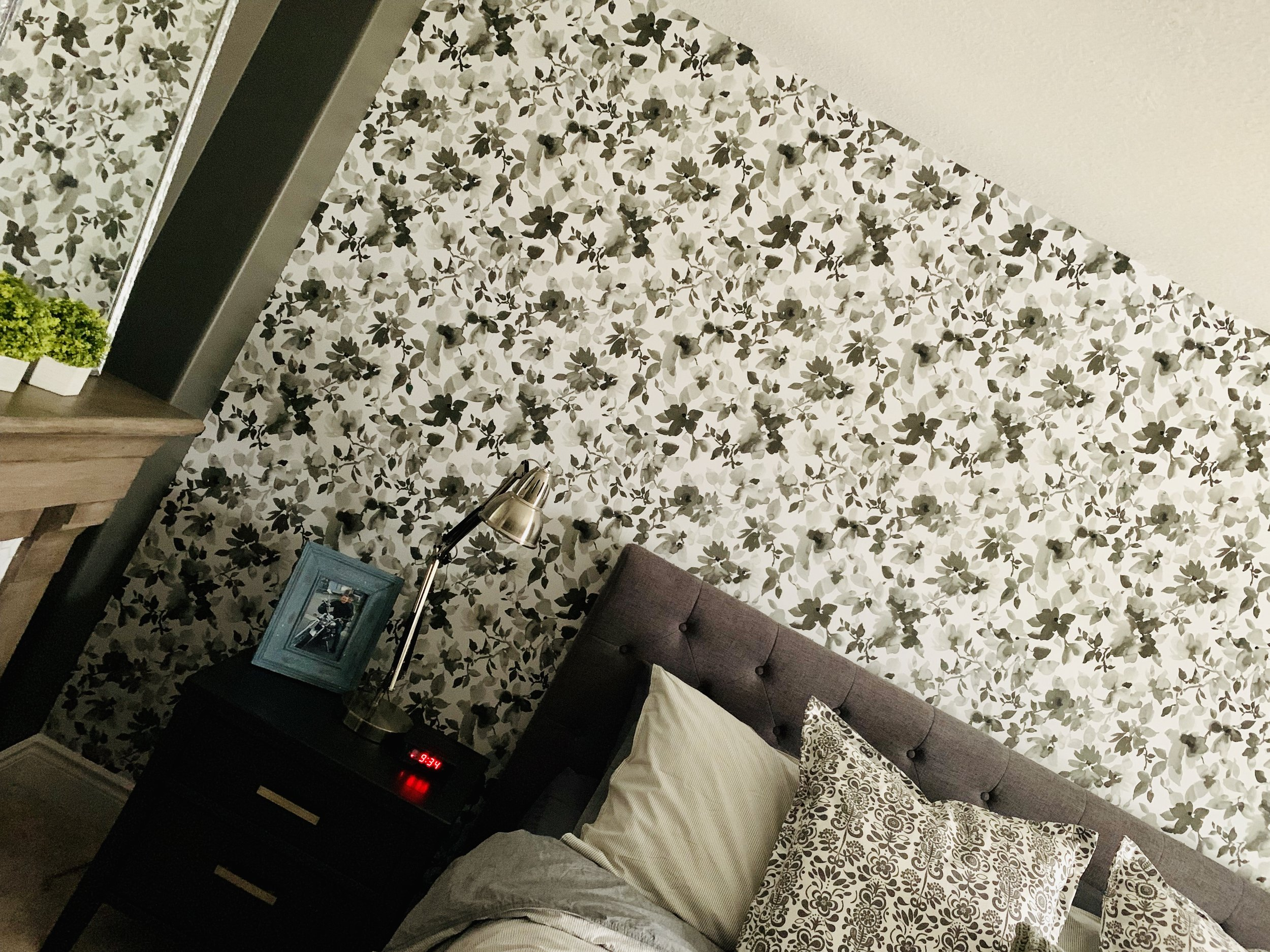 Watercolour Floral Pattern in Black by Roommates