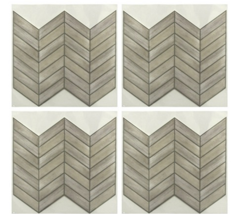 Chevron Distressed Wood StickTILES®