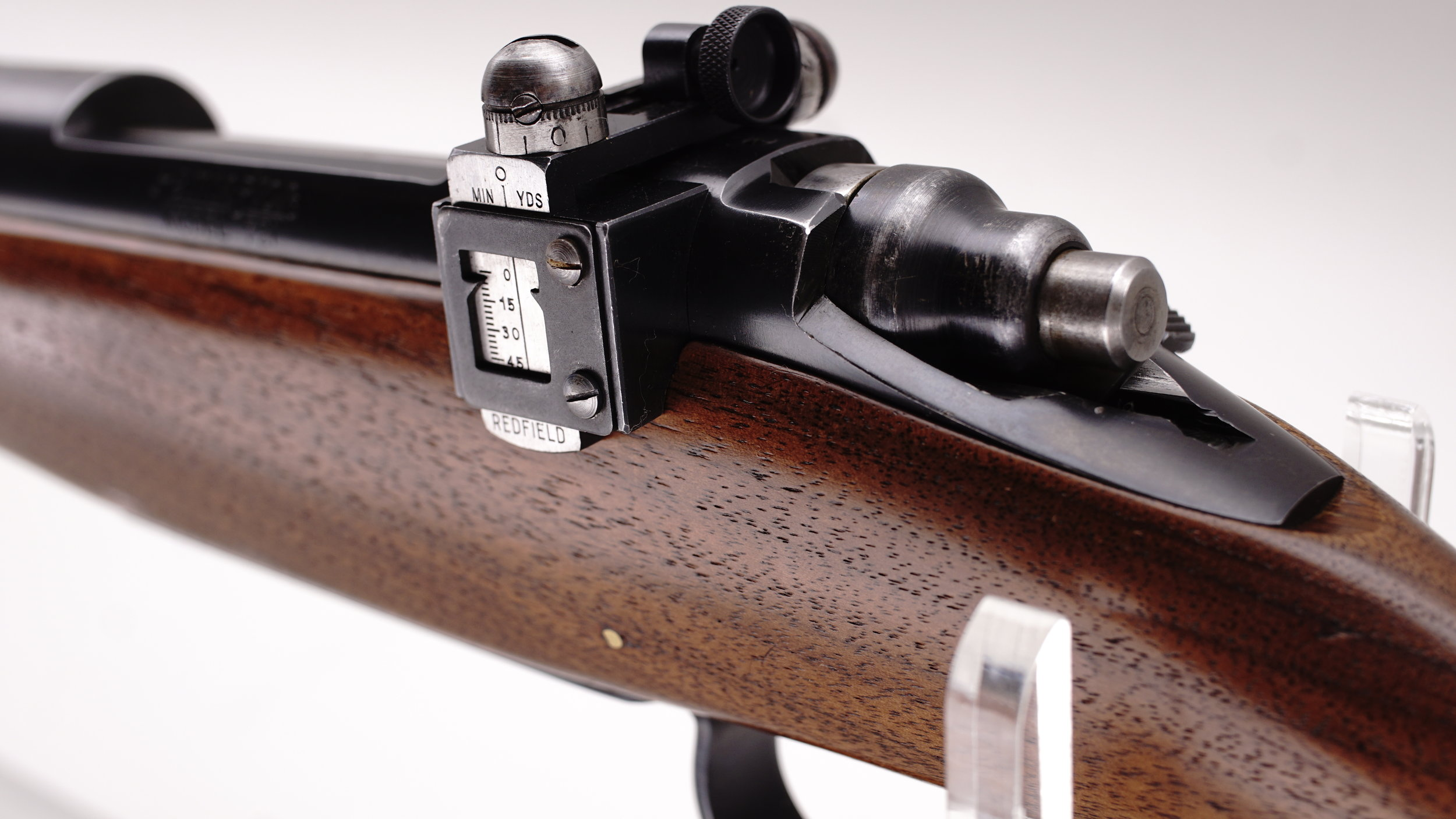 Simplicity. A first year Remington 721 with Redfield adjustable peep sight.