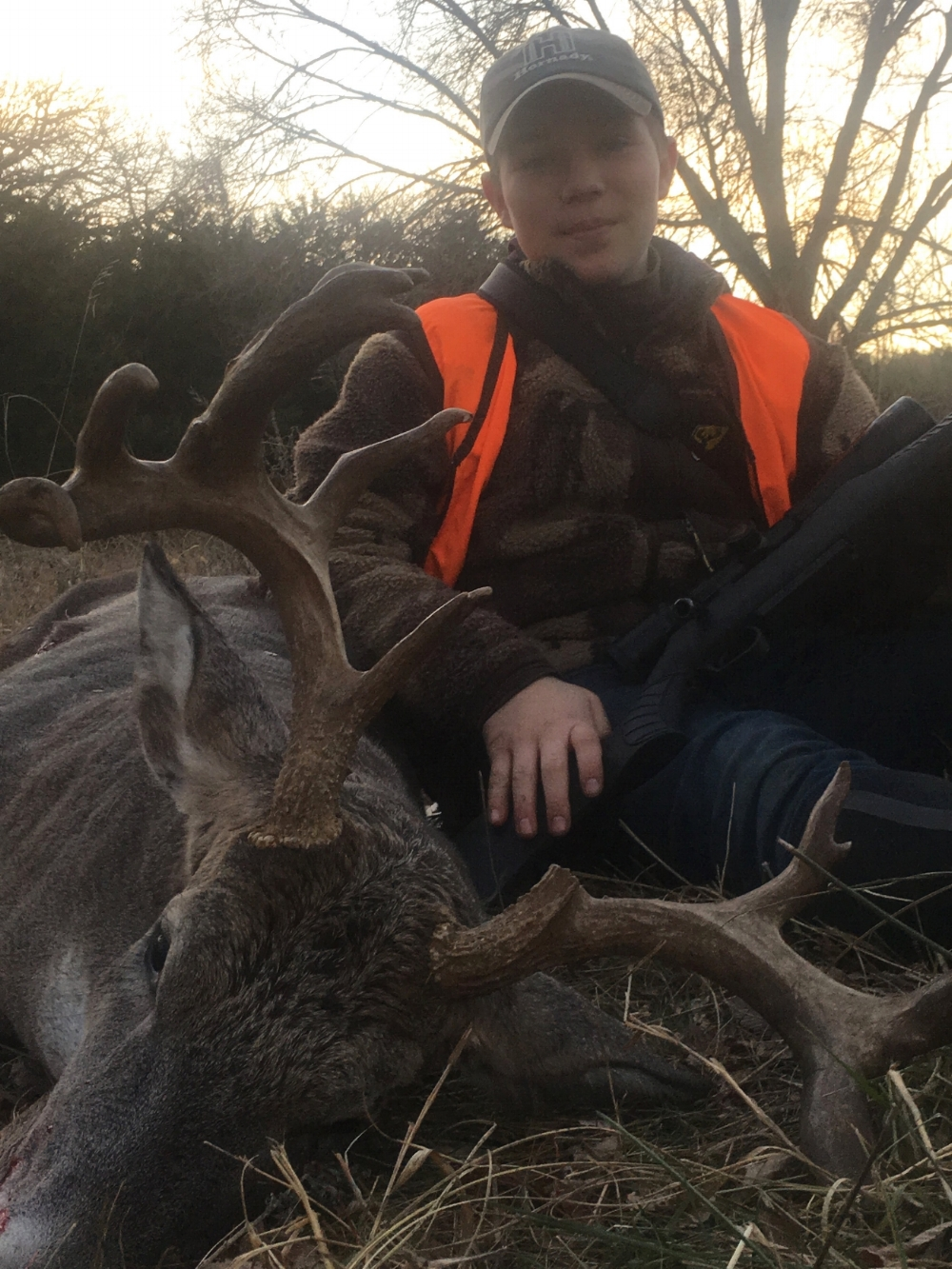 """Cort has hunted for what was known as """"Spider Buck"""" for three years. We wondered if this might be him on the way downhill."""