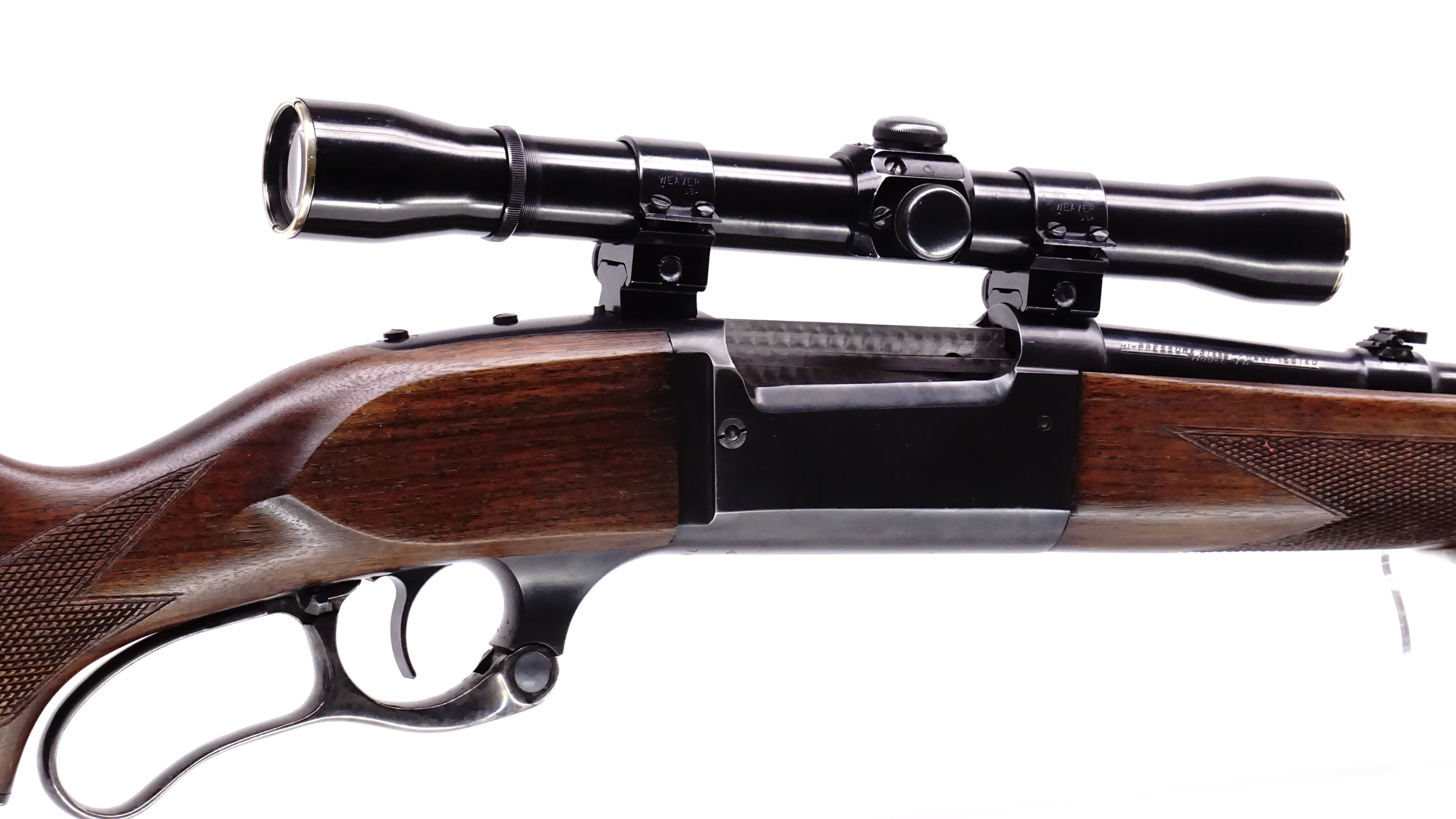 A Savage 99F sporting a VintageGunScopes.com remanufactured Weaver K4 with standard blue finish.  $399