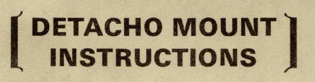 - Leupold Detacho Mount Instructions