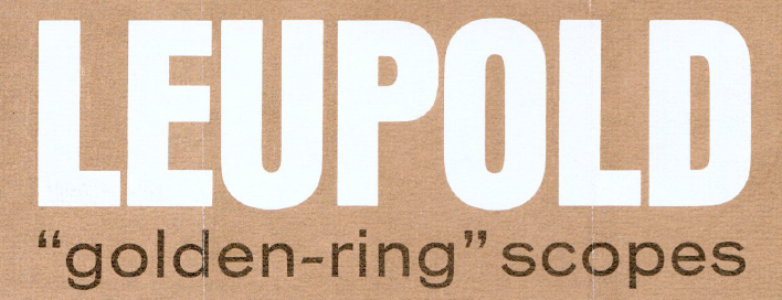- Leupold Golden Ring Scopes