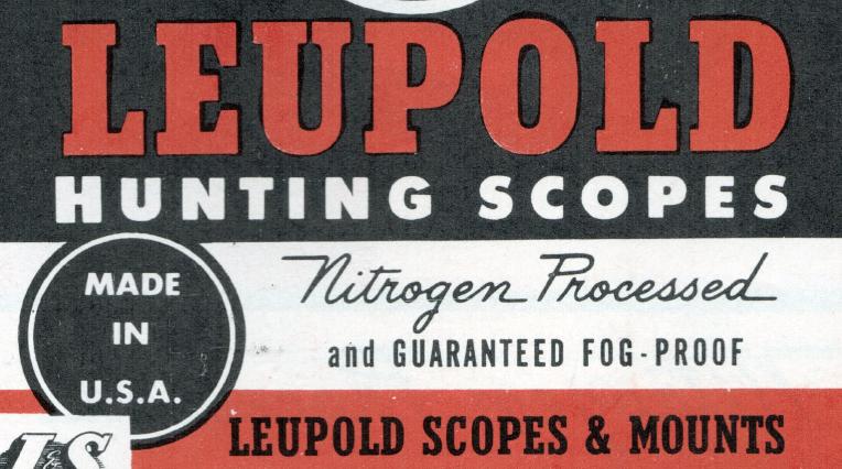 - Leupold Hunting Scopes Brochure