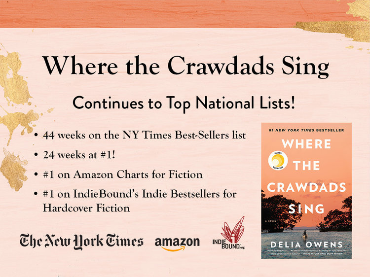 Crawdads Continues to Top the Charts — Delia Owens