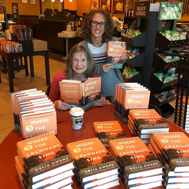 My heart and good wishes go out to everyone in hurricane Dorian's path. I hope you stay safe. As Autumn arrives, I am so grateful to all who made Crawdads #1 throughout the summer. (Signing books and sipping coffee at B&N Asheville.)