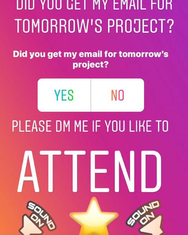 See you tomorrow!!!