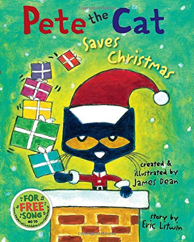 """Pete the Cat Saves Christmas   by Eric Litwin  'Twas the day before Christmas and Santa was ill. In the cold winter wind he had caught a bad chill. Will Christmas be canceled? Will it come to that? """"Never!"""" cried Santa. """"Let's call Pete the Cat!"""" In this rockin' new spin on the traditional tale The Night Before Christmas, Pete the Cat proves that giving your all in the spirit of Christmas is the totally groovy thing to do."""