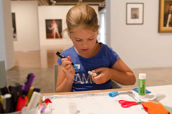 Newcastle Art Gallery is a hive of activity these school holidays, no whispering necessary!