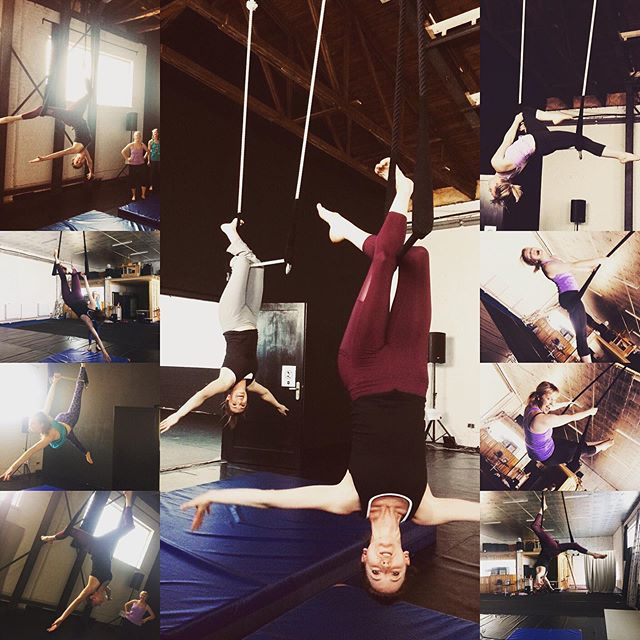 Some wonderful #operasingers learning to combine their skills with #aerialacrobatics @ my @circusoperalab in #berlin ... so much talent here! 🎪 #circusopera #newdirections  for #opera #bepartofsomethingbig #bepartofsomethingnew #circus #aerial #aerialtrapeze #berlincircusoperalab