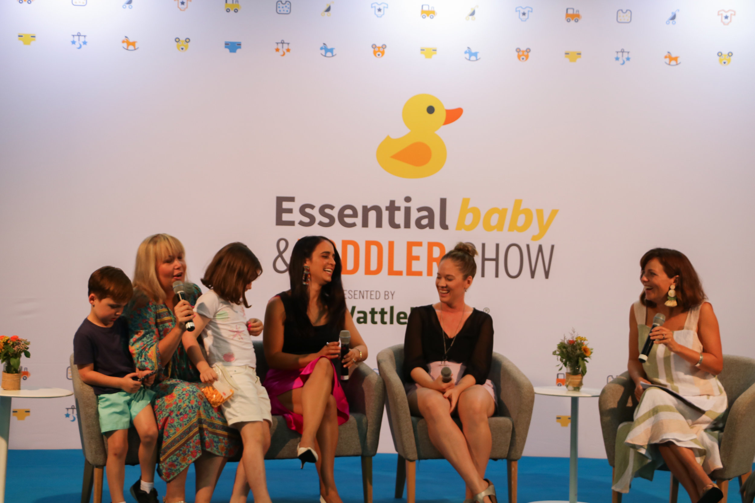 On the panel at the Essential Baby and Toddler Show in Brisbane.