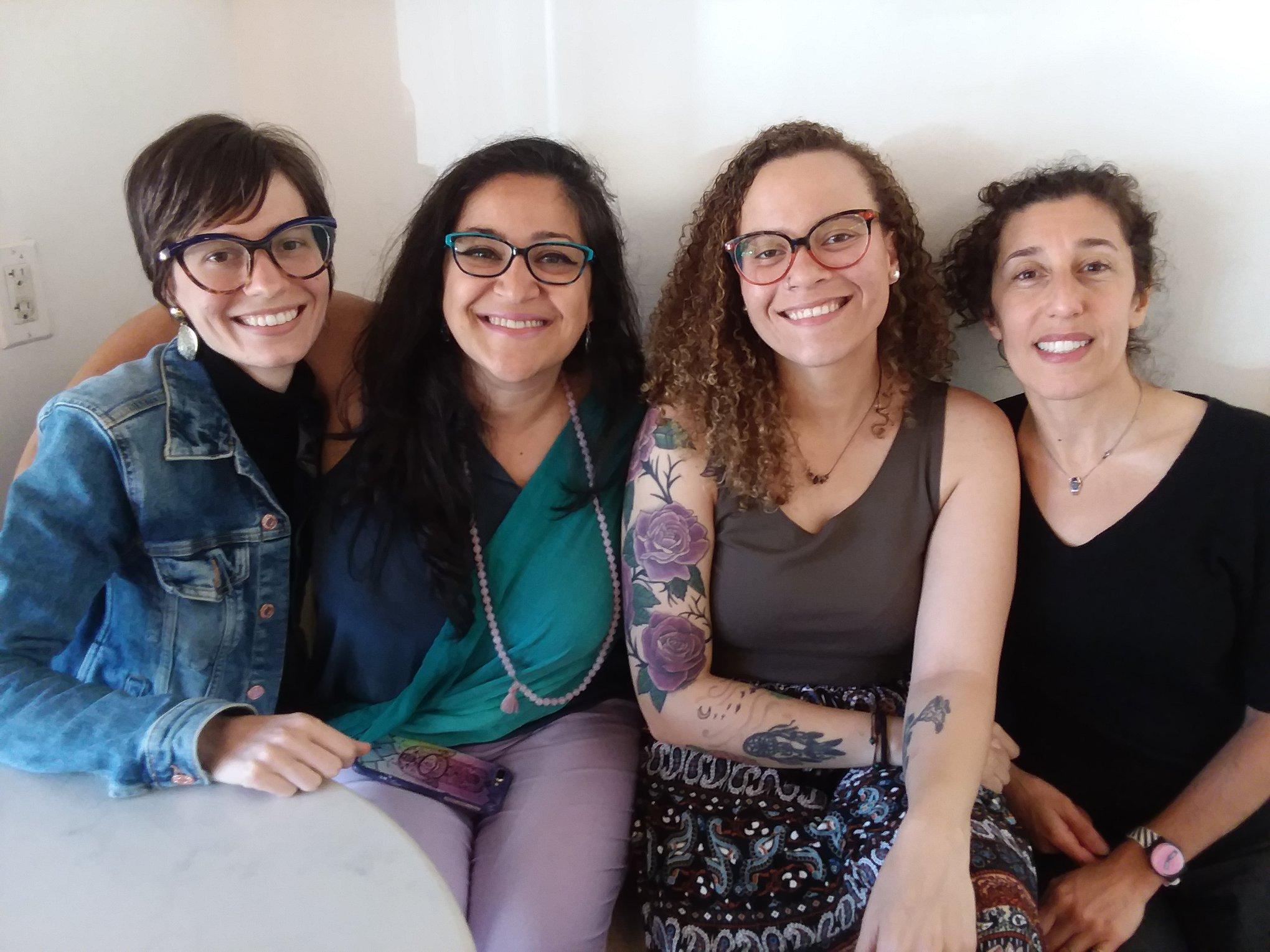 From left: Luba Douzeich, Irina Normatov, Antonia Venesse Guy, Andria Alefhi - show #4 June 22, 2019