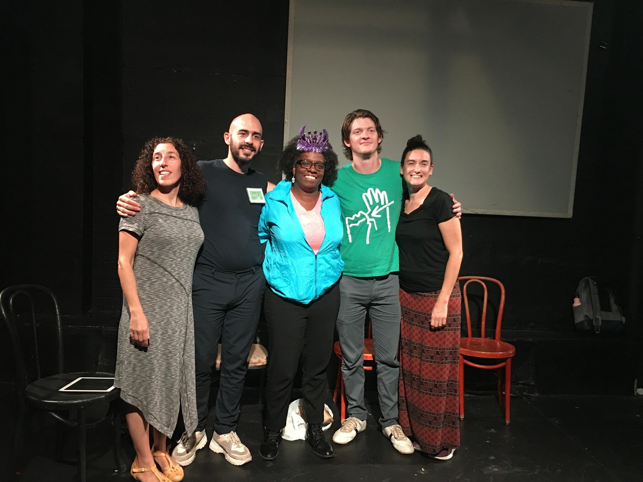 Andria Alefhi, show creator and voice interpreter; Gregor Lopes, interviewer and social media director; Miss Marsellette, dominatrix; Seth Gore, ASL consultant for films and background actor; Candi Harbison, Deaf education.