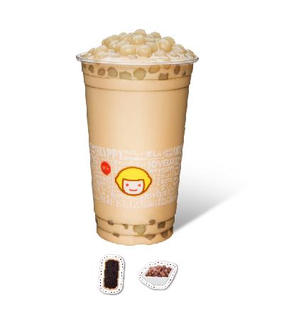 Milk Tea with Taro Balls