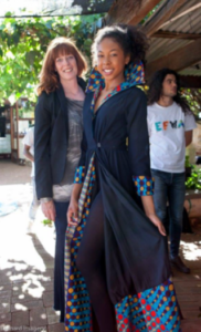 Patti DeSante and beautiful model Talisha at Eco-Fashion Week Australia held in late November 2017