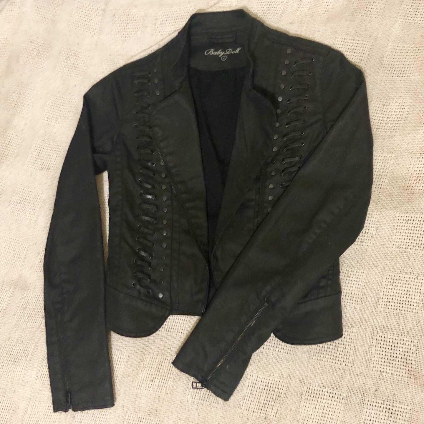 This waxed denim Jacket was an absolute bargain, the original $300 price tag was still on it!