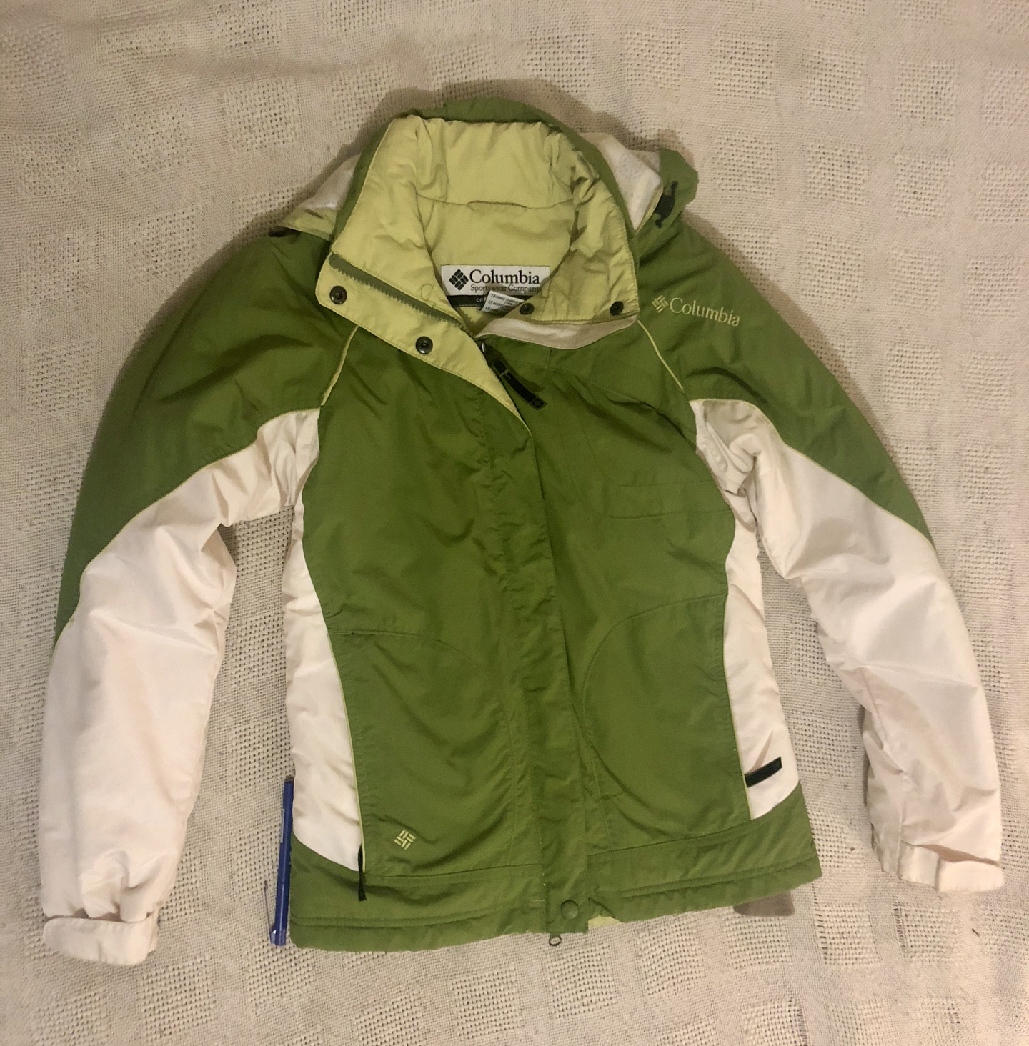 I traded this Columbia brand Winter coat with a girl from a bartering FaceBook page for a jar of Tahini and some Avocado's!