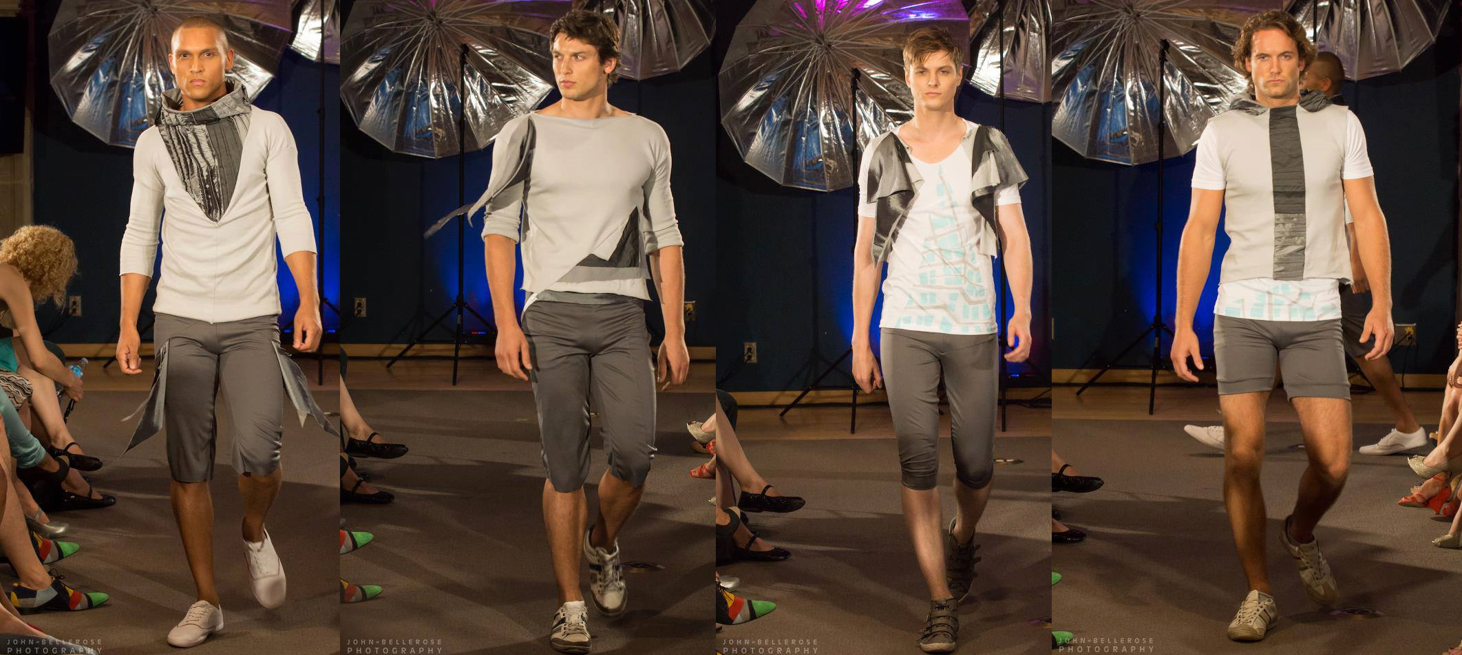 Menswear made from recycled fabrics