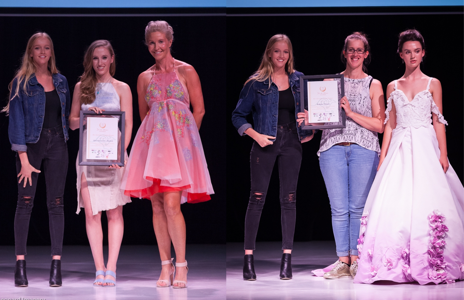 The above cover photos by Harry Leonard show two of the inaugural  winners at EFWA 2017.  Left to right: Best Emerging Designer - Skylark  and Best Student Designer - Bek Bek Timson.