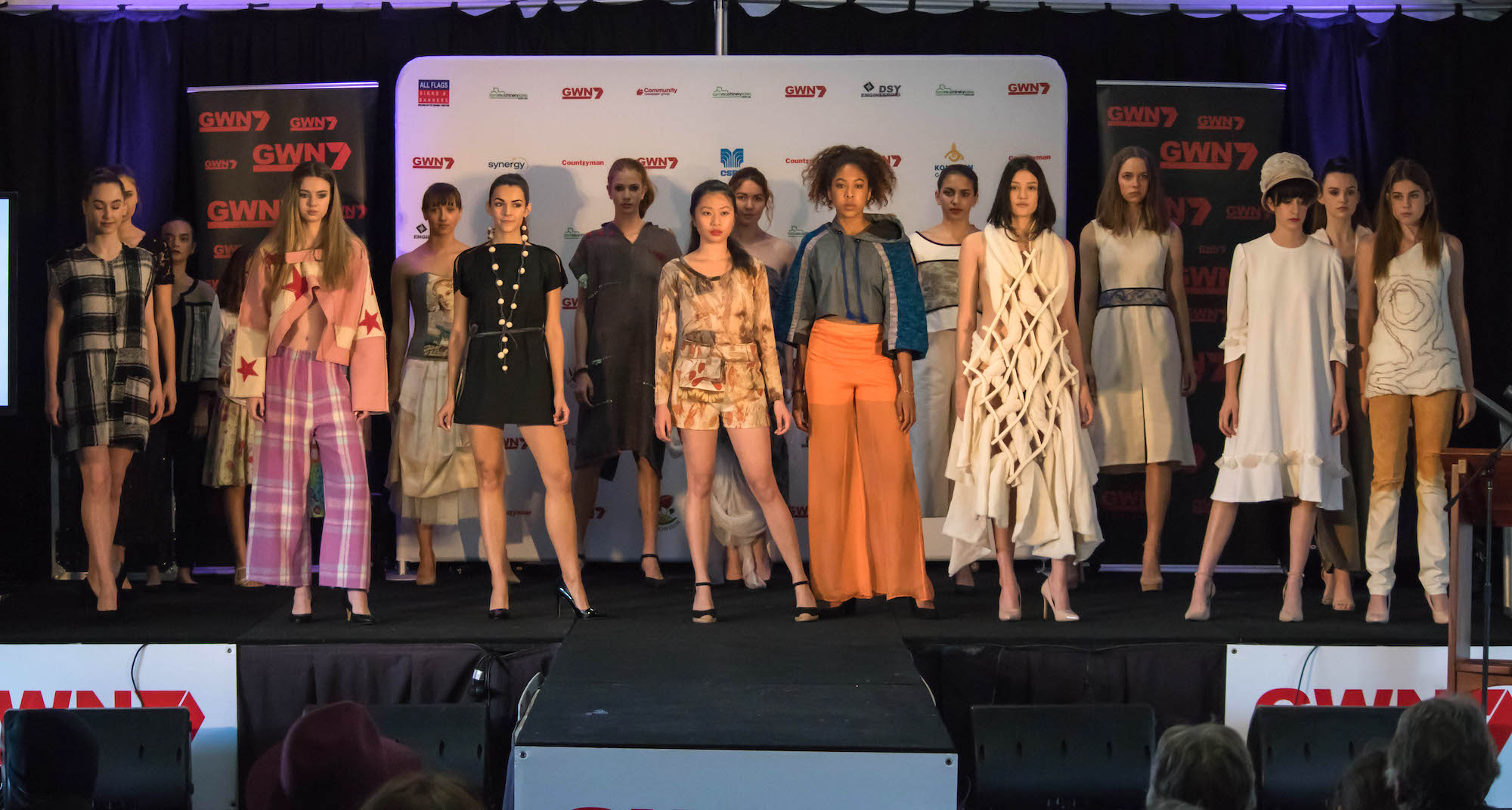Eco Fashion Week Australia showcasing at a previous Dowerin Field Days with local and international eco designers pieces made from Merino wool.