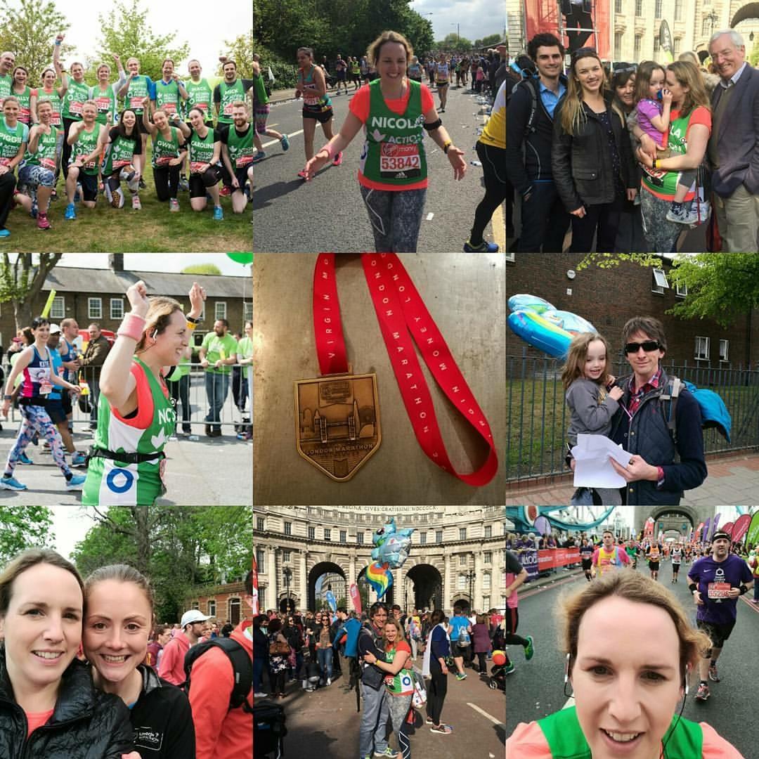 Nicola Fitzgerald runs the London Marathon, April 2017