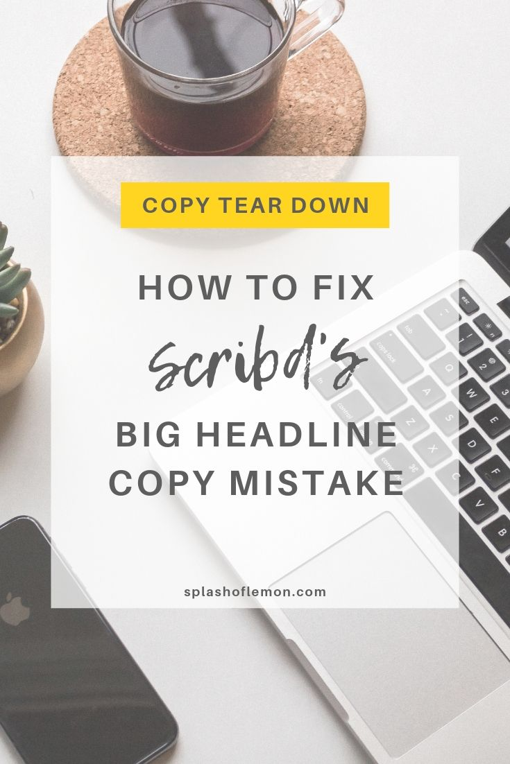 Scribd Website Copy Tear Down: How To Write A Great Headline