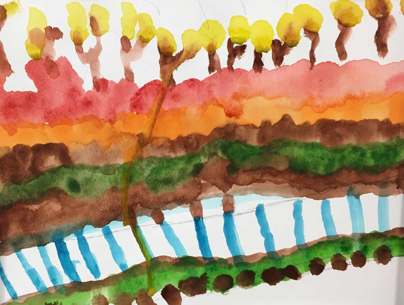 After Monet, watercolor class,  LifeCare Center of Acton