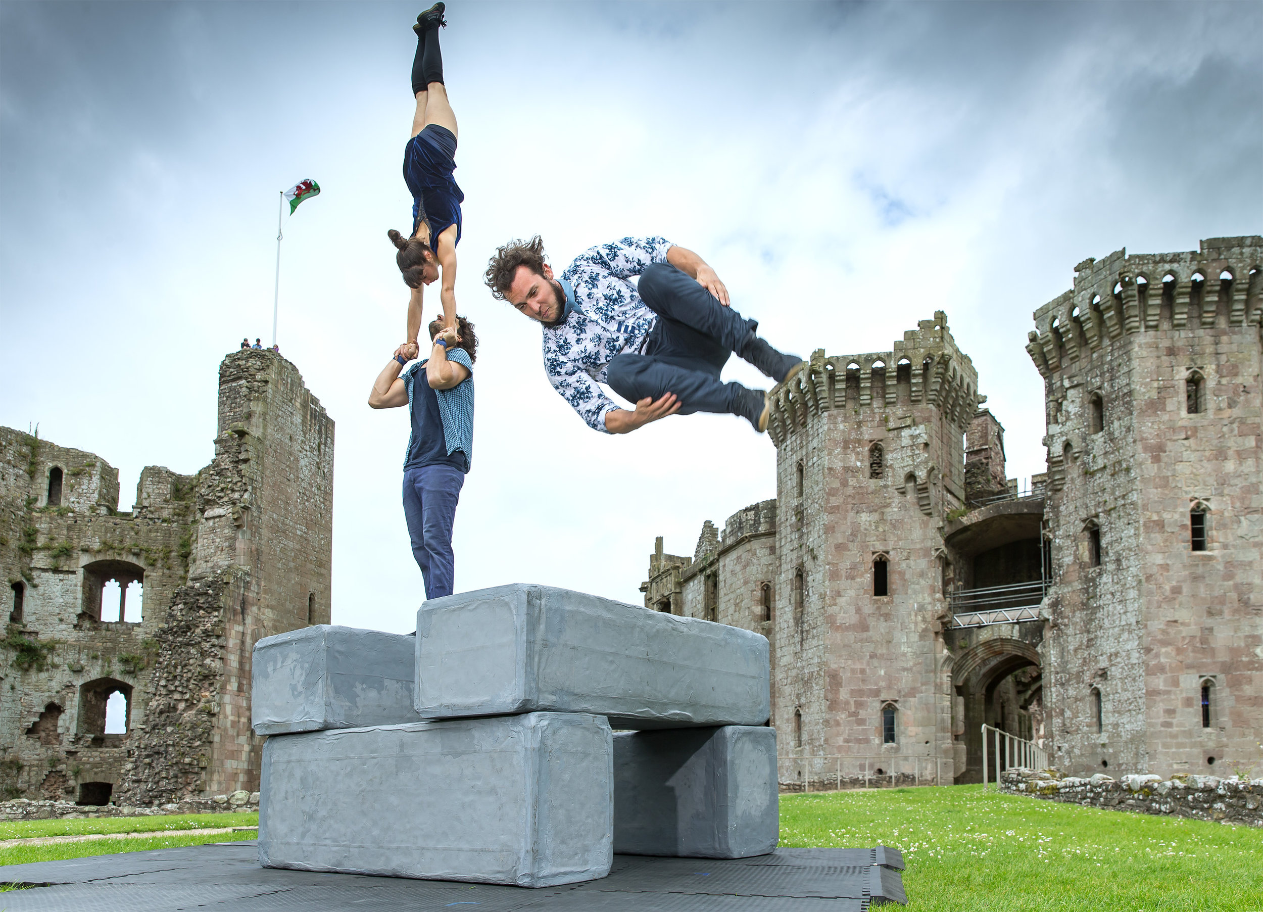 BLOCK performed at Caerphilly Castle in Wales, image credit Patrick Olner Tall and Short Photography.jpg