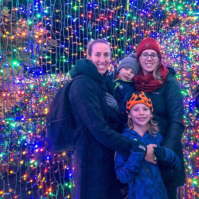 "Second Annual Zoo Lights Trip! We made our way around the zoo to the infamous ""selfie tunnel"" at the @oregonzoo. It was so crowded that they actually had a person directing traffic.  We made our way through and thankfully someone offered to take our picture.  The selfies I attempted to take were either blurry or had our eyes closed. What is an annual tradition for your family?  Do you have a light show where you live? * * Click the link in our profile: http://www.pnwfamilyexplorers.com/ ________________________________  #everywherewegoweexplore #pnwfamilyexplorers #brothersbestfriends #childhoodunplugged #letthemexplore #littleexplorers #candidchoildhood #outdoorkids #adventurefamily #lovetheoutdoors #neverstopexploring #christmastree #outdoorfamilies #explorekids #pdxfamily #magicofchildhood #pnwphotography #portlandkids #pnw #pnwlife #pnwadventures #our_everyday_moments #exploreportland #portland #portlandoregon #pdxkids #pnwhiking #portlandphotography #pnwkids #oregonzoolights"