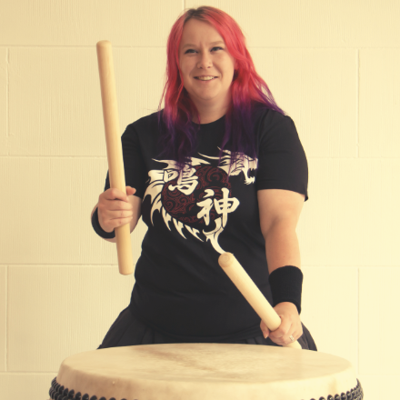 Jessie Gibbs - Jessie Gibbs is a taiko performer and instructor from Wellington, New Zealand. Jessie first experienced taiko when studying at IPUNZ. She played with the university team Kodama for 3 years becoming their captain in her final year. After a year of teaching English in Japan and wanting to continue her taiko journey, she formed the community group Narukami Taiko. Jessie's dream of unity, inclusiveness, and the desire to just play drums with friends has helped Narukami grow from just 9 members at conception in 2014 to over 60 members today. Narukami is a diverse team that encourages both individuality and acceptance.www.narukamitaiko.co.nzwww.Facebook.com/narukamitaiko