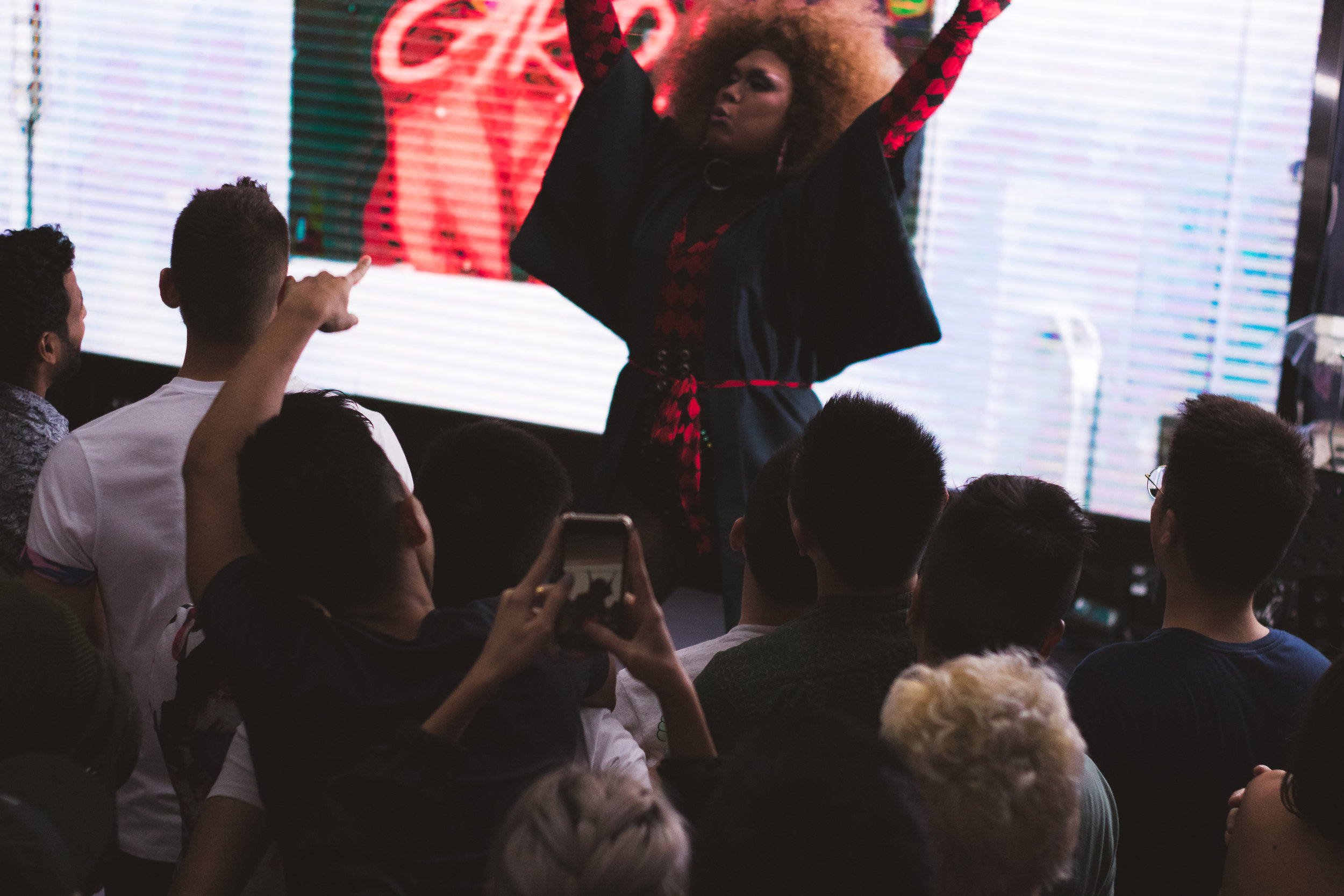 "Salome Blaque performing ""Chun-Li"". We at Swing love big hair."