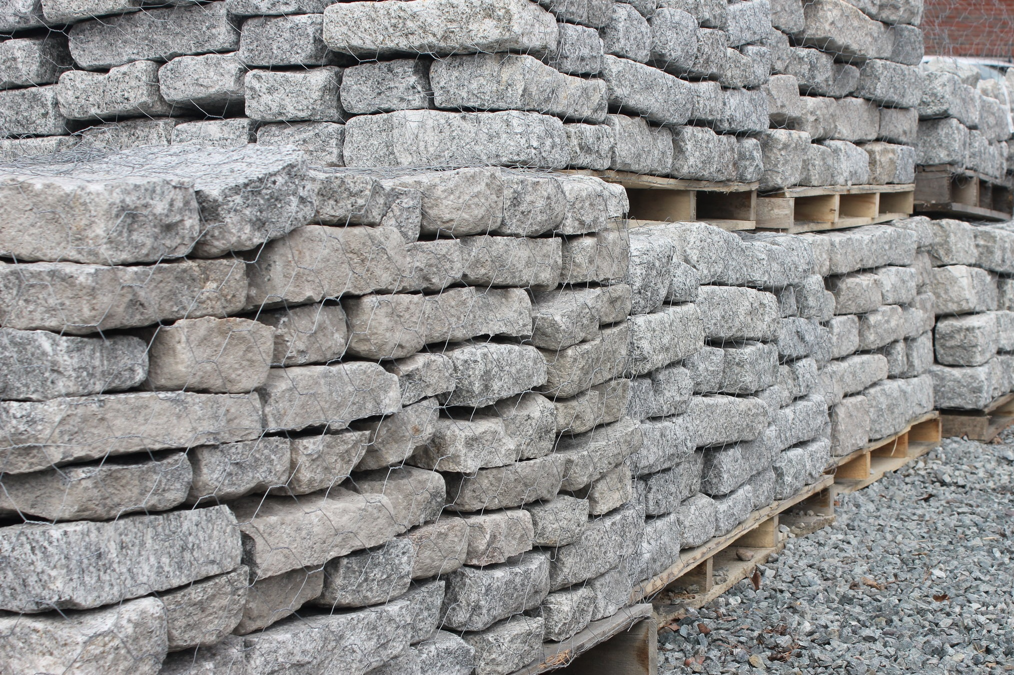 NATURAL STONE & COBBLESTONES   We stock cobblestones in various sizes for purchase by the piece or by the pallet. We also carry a selection of palletized natural stone and bluestone. Selection varies by location — please call for more details.