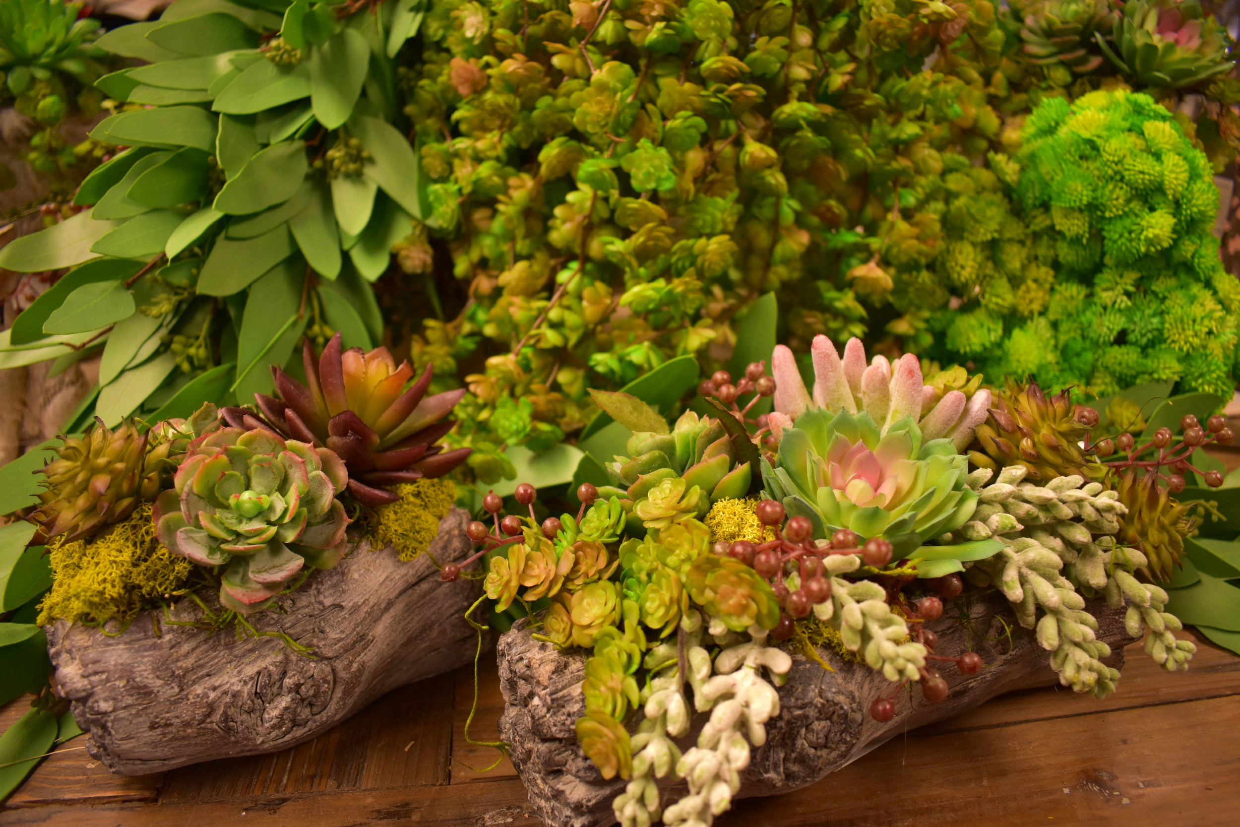 Green up your home with a no-maintenance faux succulent arrangement.