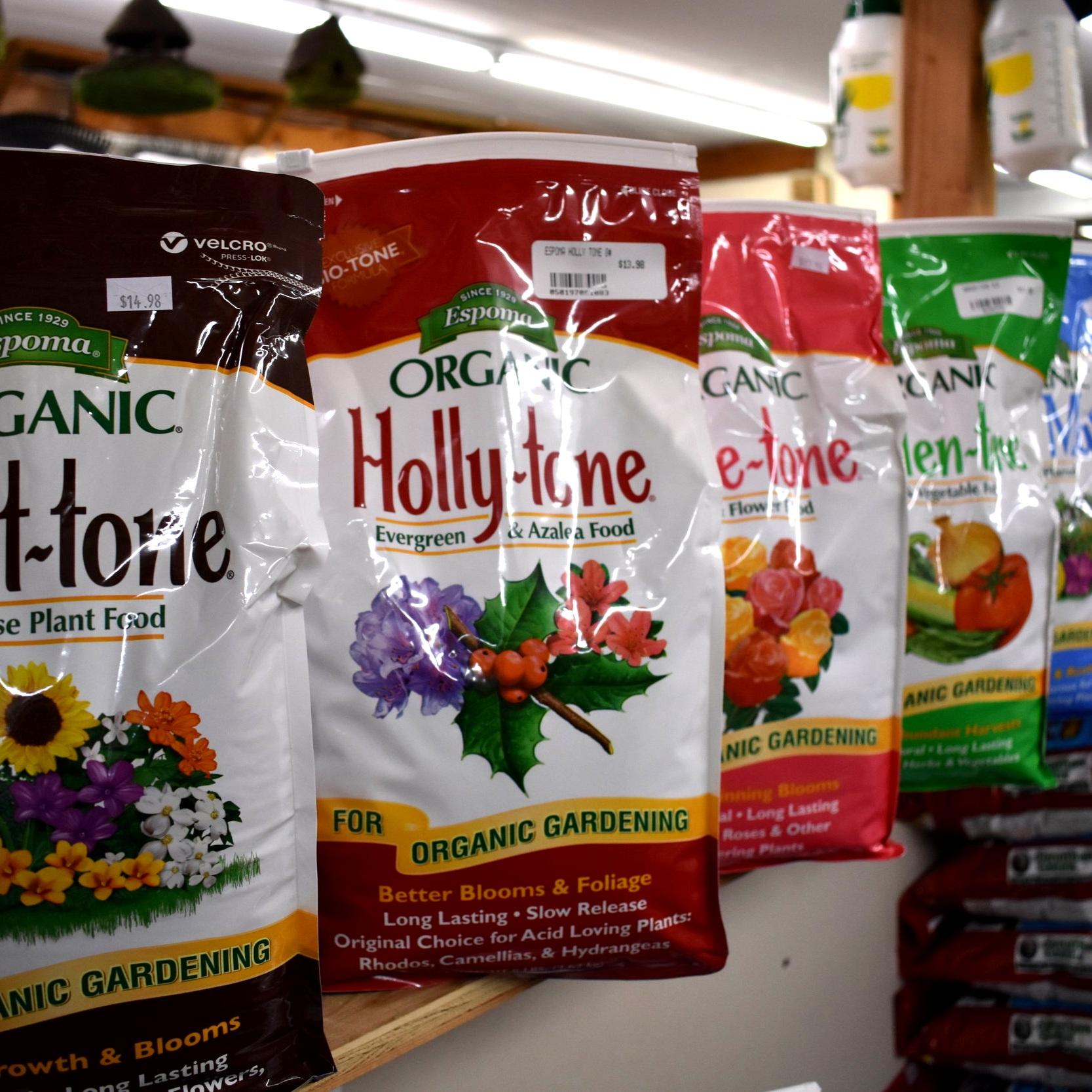 Espoma's Full Line of Organic Fertilizers