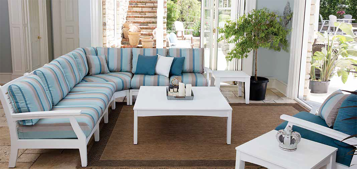 Classic Terrace Collection - Traditional Deep-Seating & Accessories. Comfortable and Timeless. Create-Your-Own Outdoor Sectional. Your choice of Sunbrella® Cushions included.