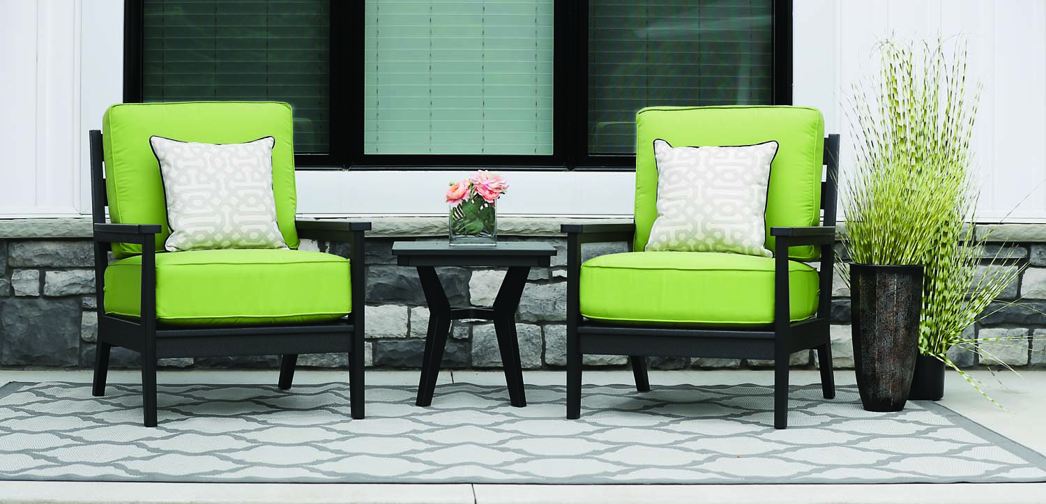 Mayhew Collection - Modern Deep-Seating & Accessories. Clean, crisp lines. Your choice of Sunbrella® Cushions included