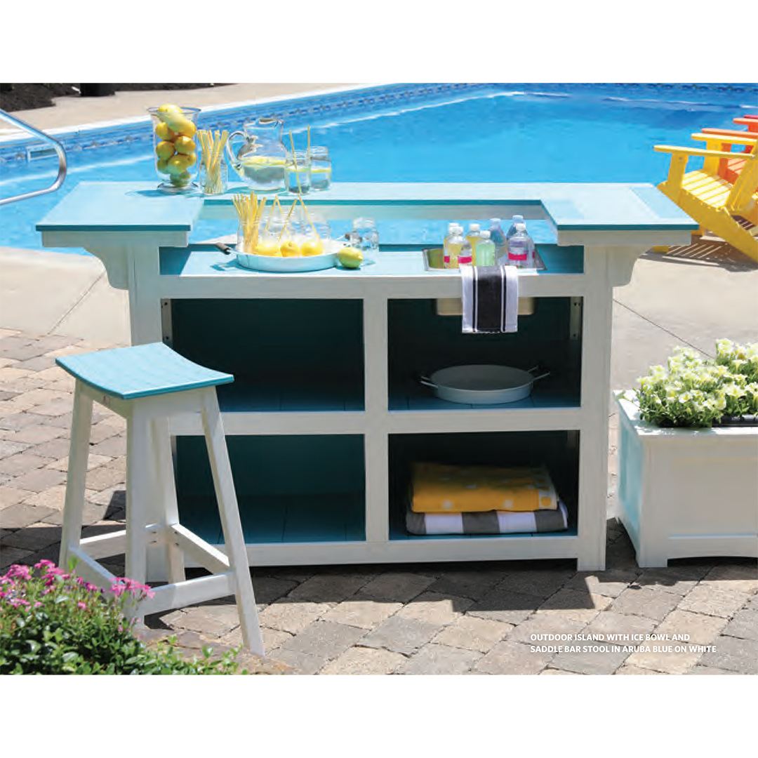 Outdoor Living Collection - Bars & Buffets, Barstools, Firepits, Arbors & Swings, Benches & Umbrellas. Bring your Outdoor Room to life.