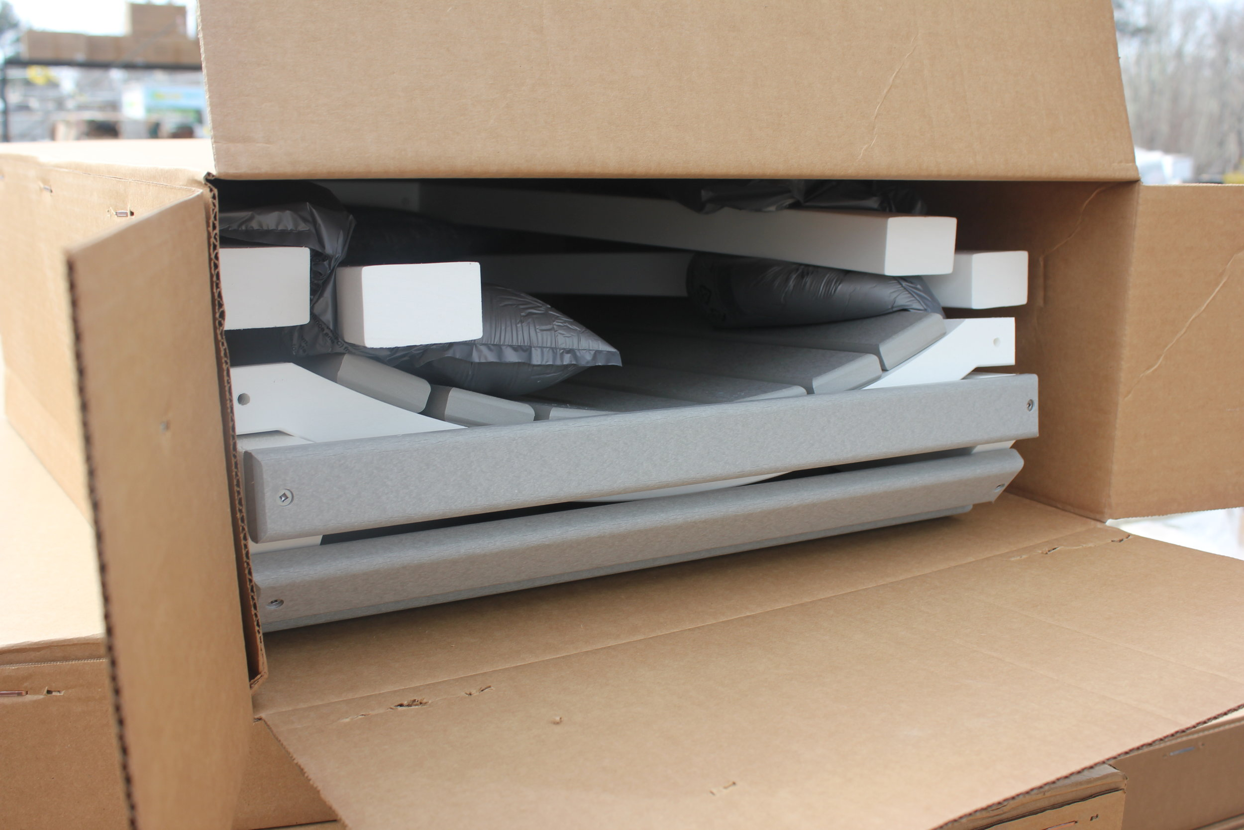 Sealed Foam Packaging - Each piece is cushioned by sealed foam packaging to protect your new purchase during shipping.