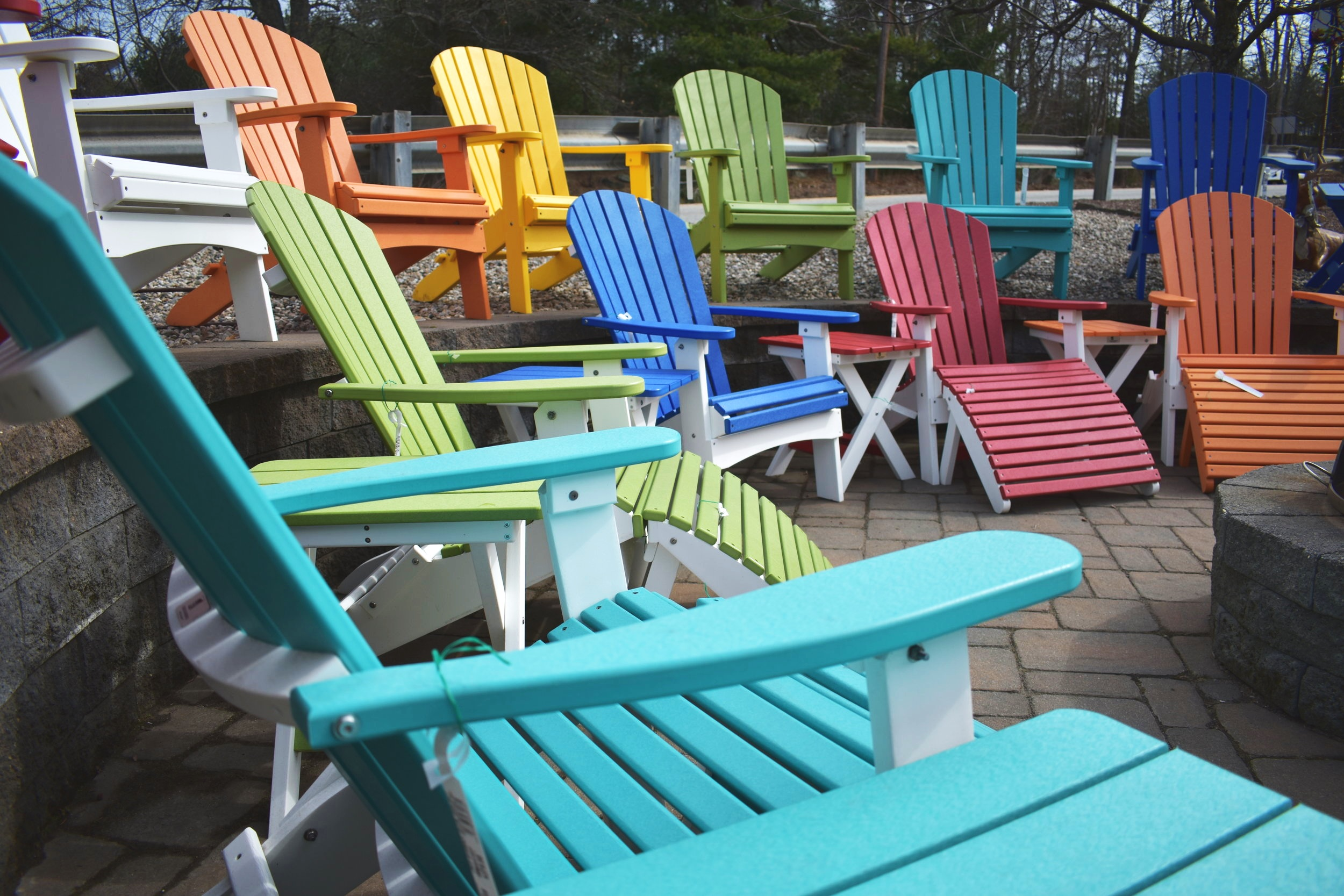 Durable patio furniture from Berlin Gardens in all colors of the rainbow — made in the U.S.A. with a great warranty! Shop the collection on our website!