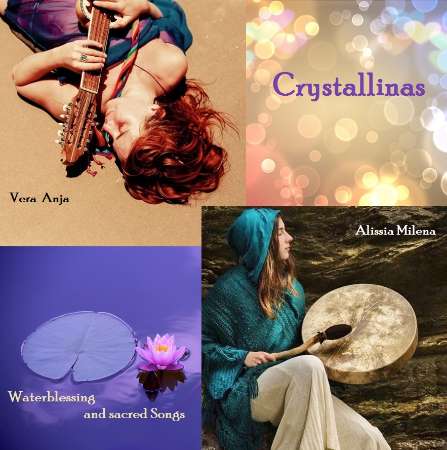 Waterblessings - We are holding space for sacred circles to sing and chant for the planetary waters in the world. By increasing the vibration, the crystals of the water are carrying the healing information. Close to lakes, waterfalls and rivers, we share a great collection of ancient songs and water invocations from different cultures.