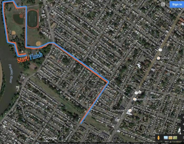 Runner's Map - Length = 5K