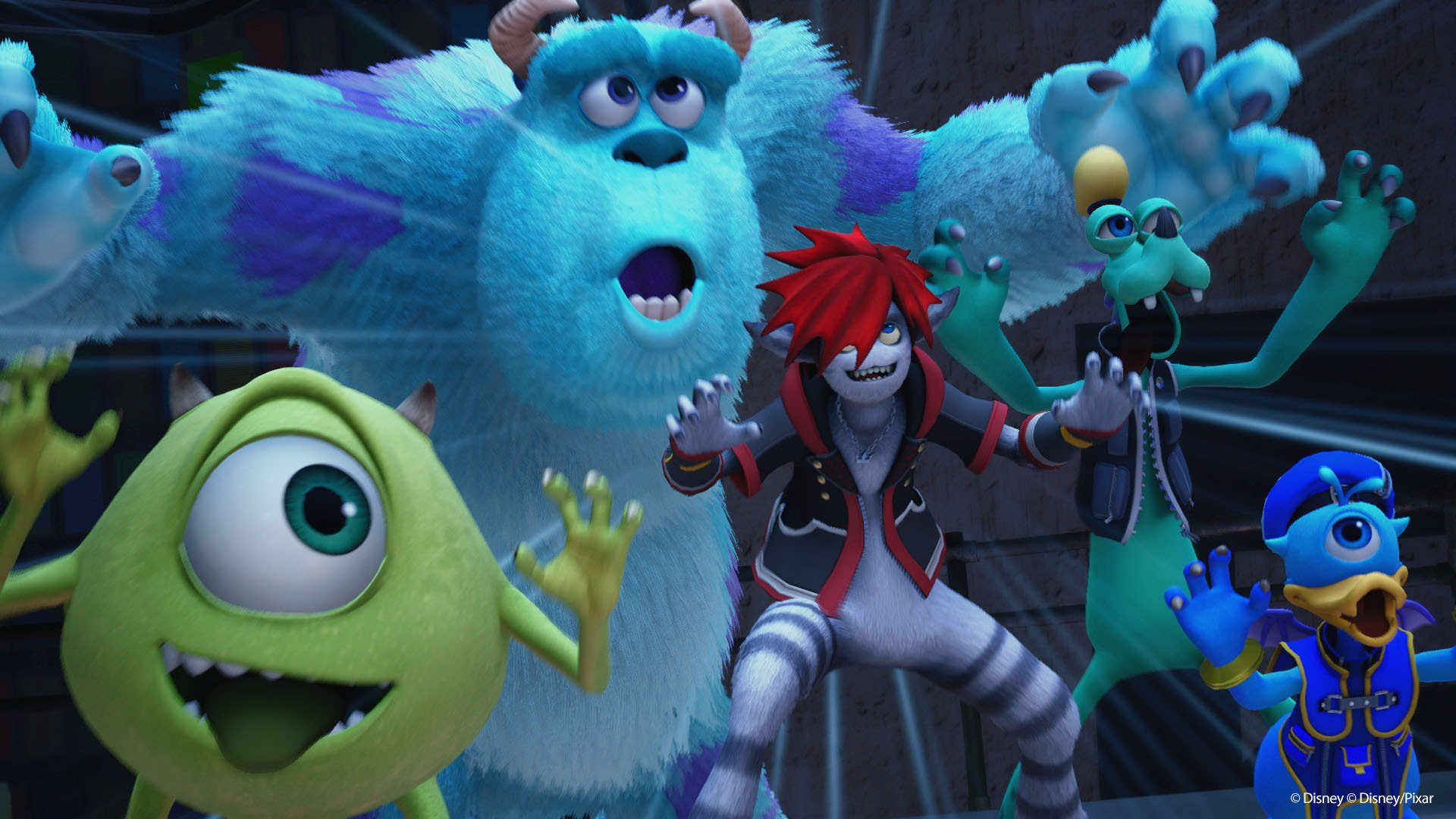 Kingdom Hearts III is owned by Square Enix and Disney / Pixar