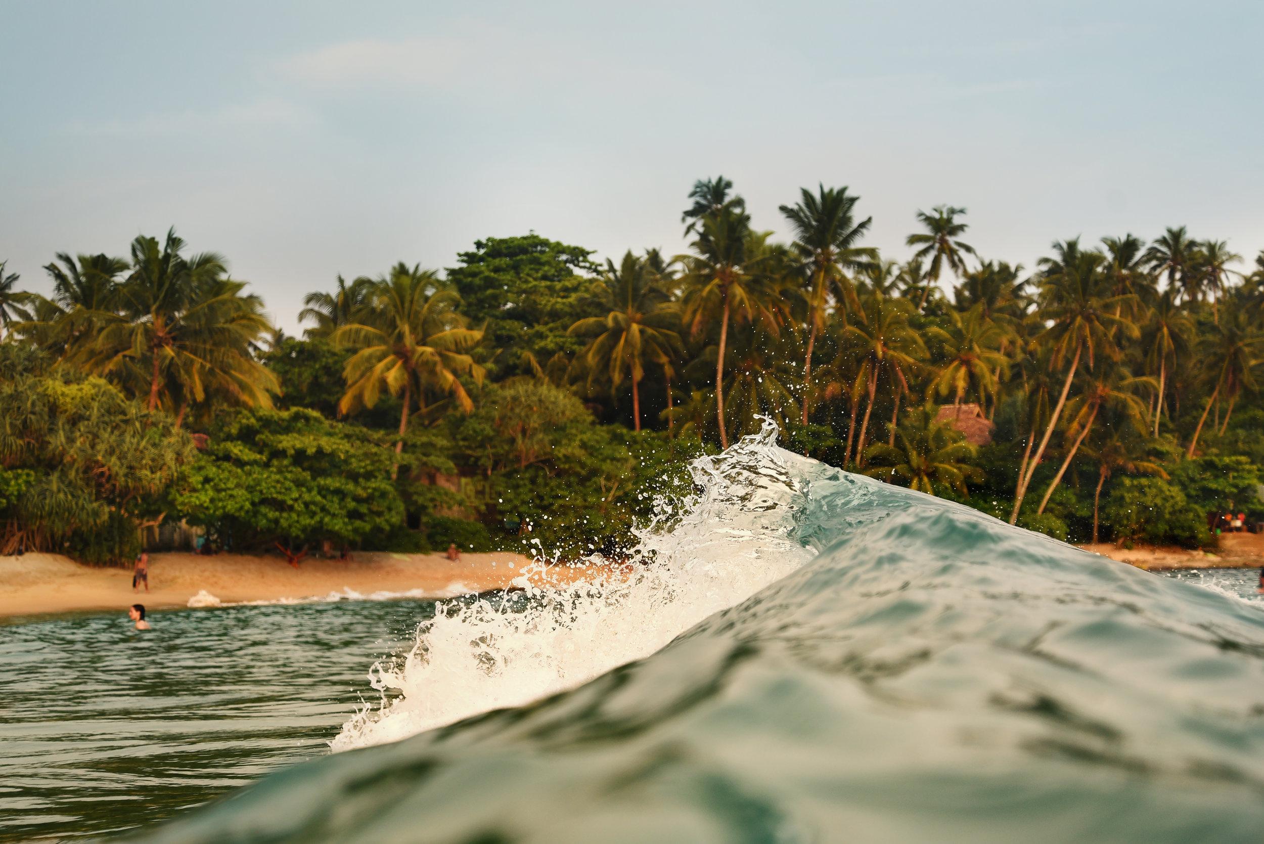 Wave art in Hiriketiya Sri Lanka