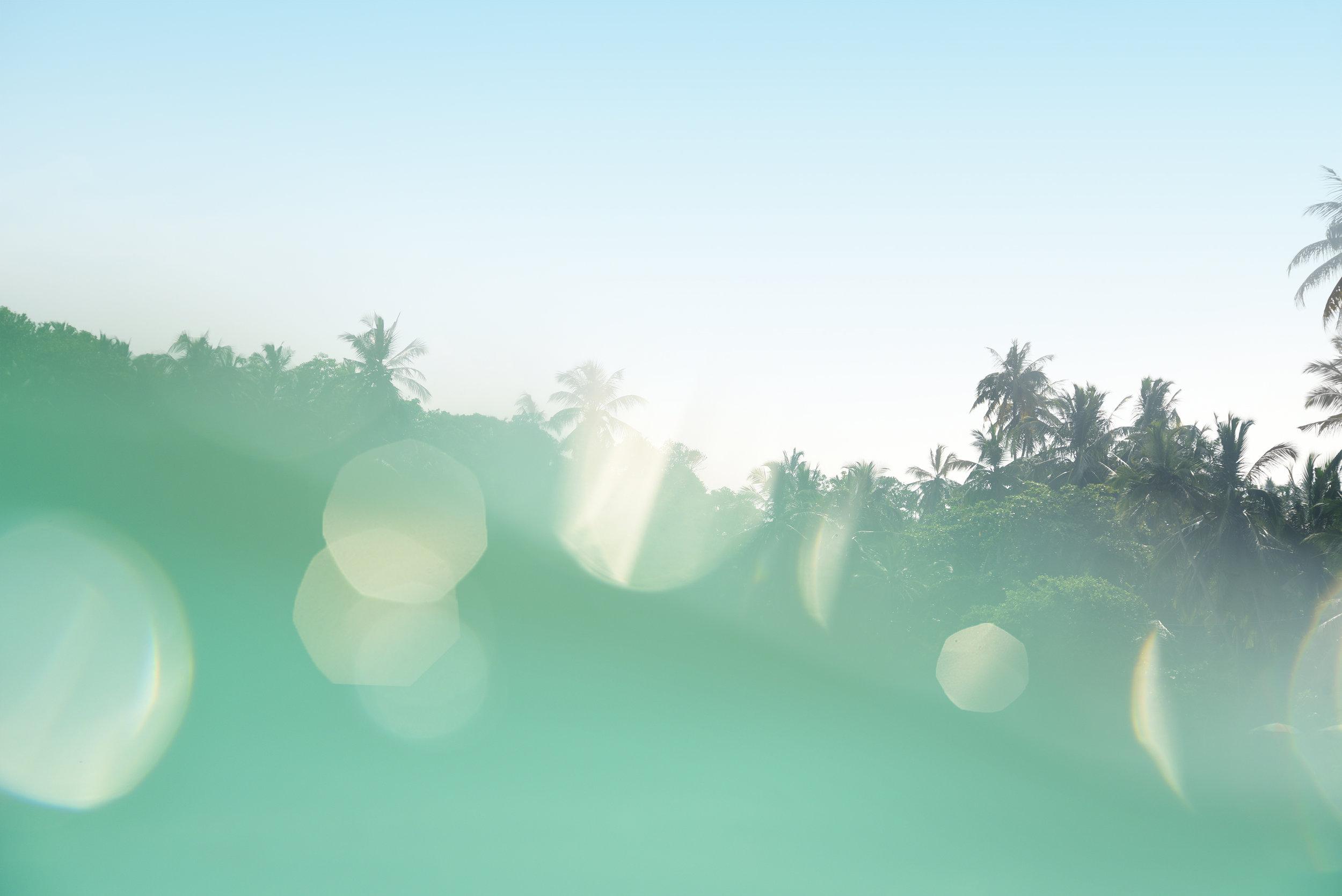 Bokeh Sri Lanka beachscape