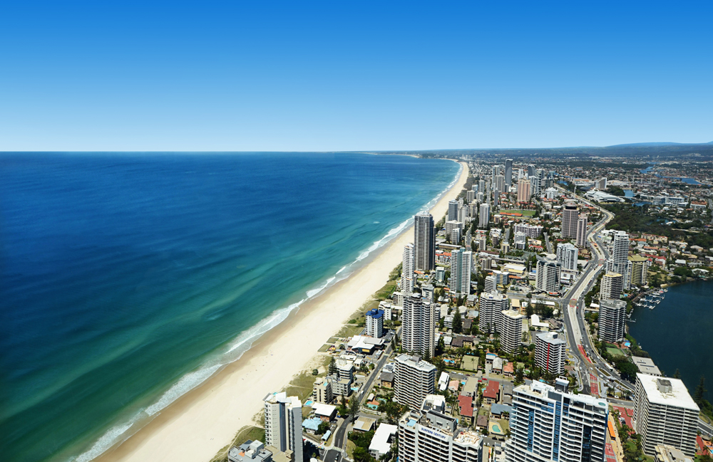Drone shot Gold Coast