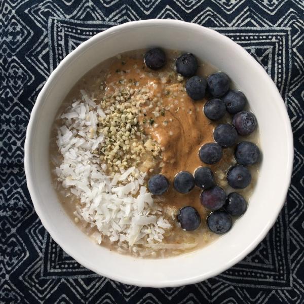 almond chai adaptogen quinoa oatmeal